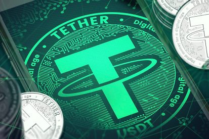 Tether, an example of a stablecoin,